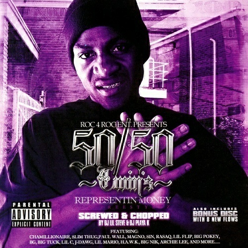 50-50 Twin - Representin Money. Screwed & Chopped cover