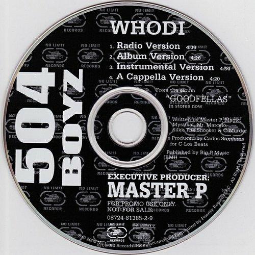 504 Boyz - Whodi (CD, Promo) cover