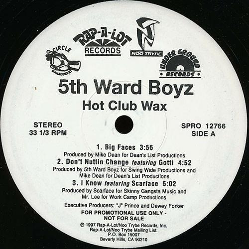 5th Ward Boyz - Hot Club Wax (12'' Vinyl, 33 1-3 RPM, Promo) cover