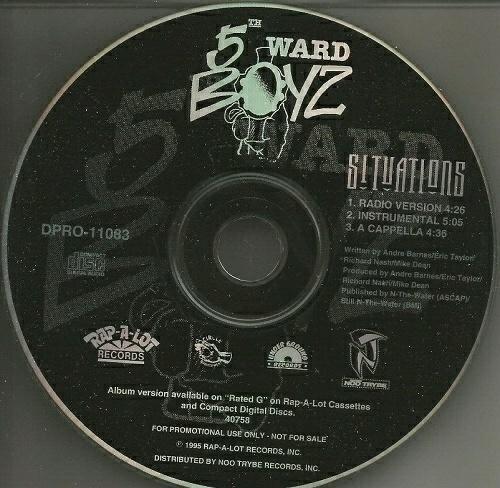 5th Ward Boyz - Situations (CD Single, Promo) cover