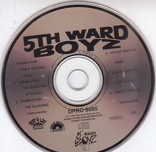 5th Ward Boyz - Thanks For The Blessing (CD Single, Promo) cover