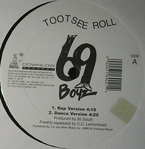 69 Boyz - Tootsee Roll (12'' Vinyl) cover