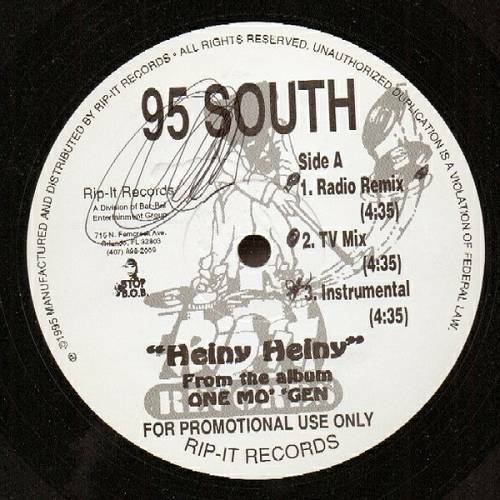 95 South - Heiny Heiny (12'' Vinyl, Promo) cover