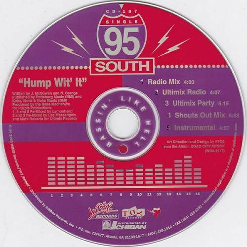 95 South - Hump Wit It (CD, Maxi-Single) cover