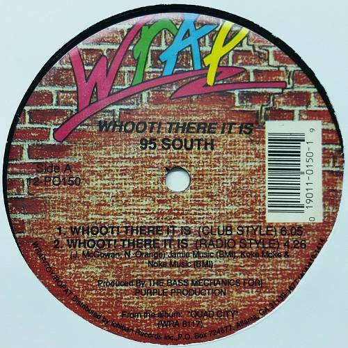 95 South - Whoot! There It Is (12'' Vinyl, 33 1-3 RPM) cover