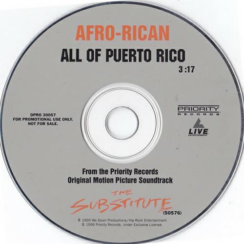 Afro-Rican - All Of Puerto Rico (CD Single, Promo) cover