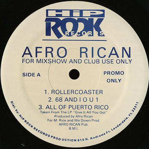 Afro-Rican - Give It All You Got `95 (12'' Vinyl, 33 1-3 RPM, Promo) cover