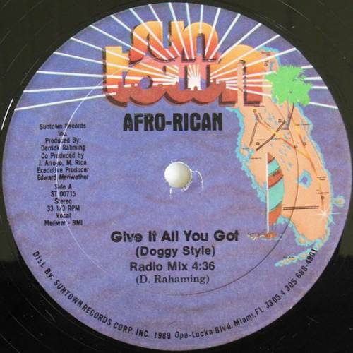 Afro-Rican - Give It All You Got (Doggy Style) (12'' Vinyl, 33 1-3 RPM) cover