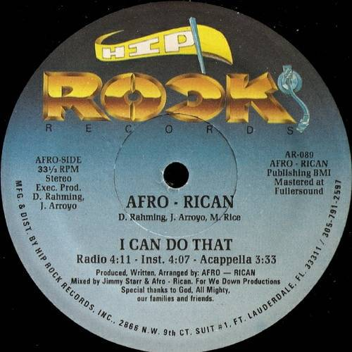 Afro-Rican - I Can Do That # Just Let It Go (12'' Vinyl, 33 1-3 RPM) cover
