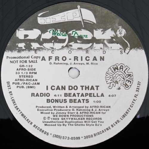 Afro-Rican - I Can Do That # Let It Go (12'' Vinyl, 33 1-3 RPM, Promo) cover
