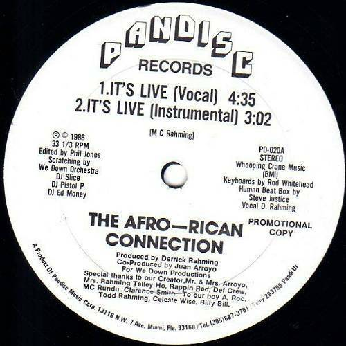 The Afro-Rican Connection - It`s Live (12'' Vinyl, 33 1-3 RPM, Promo) cover