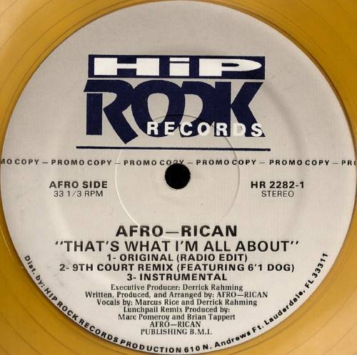Afro-Rican - That`s What I`m All About (12'' Vinyl, 33 1-3 RPM, Promo) cover