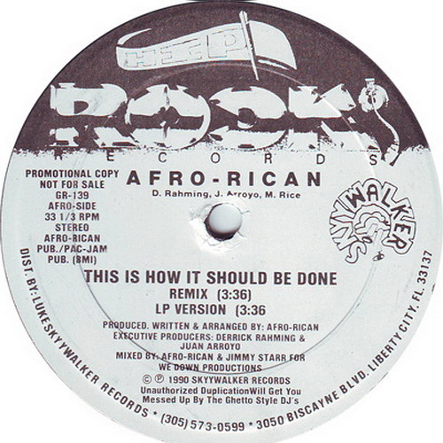 Afro-Rican - This Is How It Should Be Done (12'' Vinyl, 33 1-3 RPM, Promo) cover