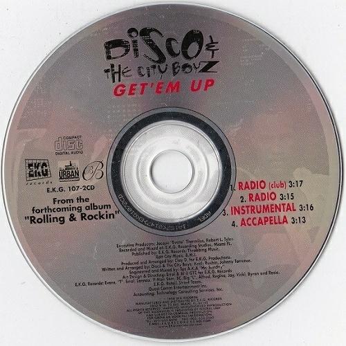 Disco & The City Boyz - Get Em Up (CD Single) cover