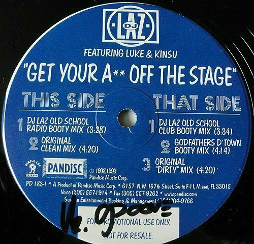DJ Laz - Get Your Ass Off The Stage (12'' Vinyl, 33 1-3 RPM) cover
