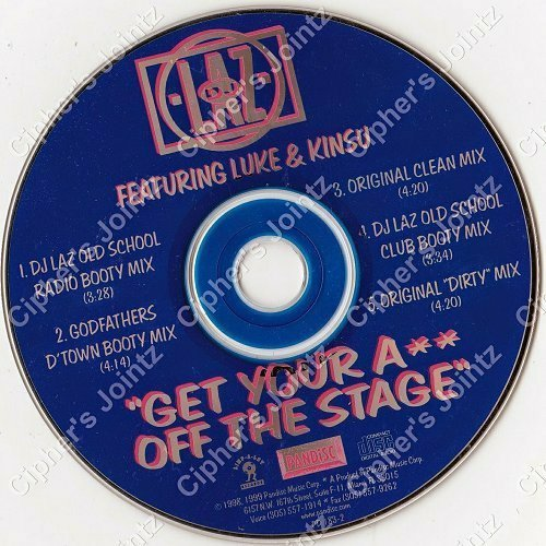 DJ Laz - Get Your Ass Off The Stage (CD, Maxi-Single) cover