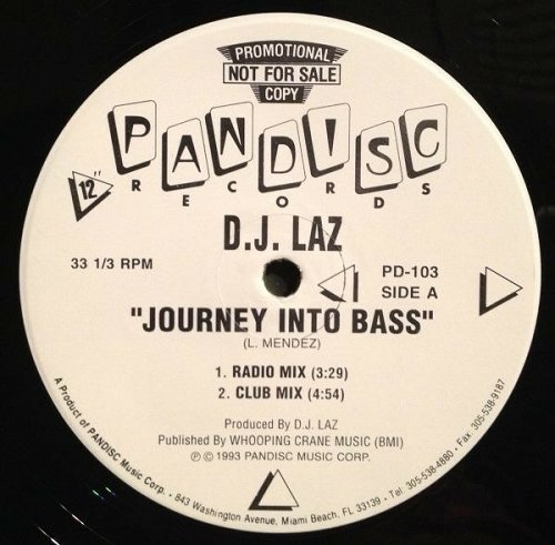 DJ Laz - Journey Into Bass (12'' Vinyl, 33 1-3 RPM, Promo) cover