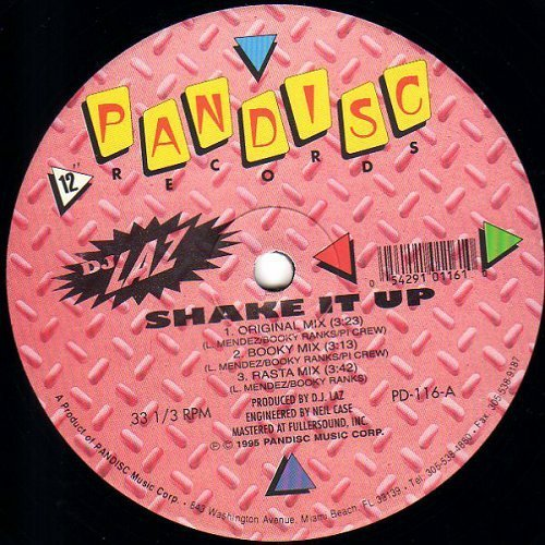 DJ Laz - Shake It Up # Stick Out Your Butt (12'' Vinyl, 33 1-3 RPM) cover
