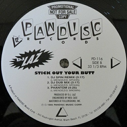 DJ Laz - Shake It Up # Stick Out Your Butt (12'' Vinyl, 33 1-3 RPM, Promo) cover
