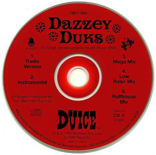 Duice - Dazzey Duks (CD, Single) cover
