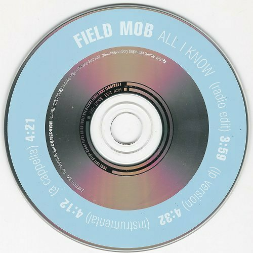 Field Mob - All I Know (CD Single, Promo) cover