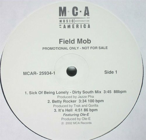 Field Mob - Sick Of Being Lonely (12'' Vinyl, Promo) cover