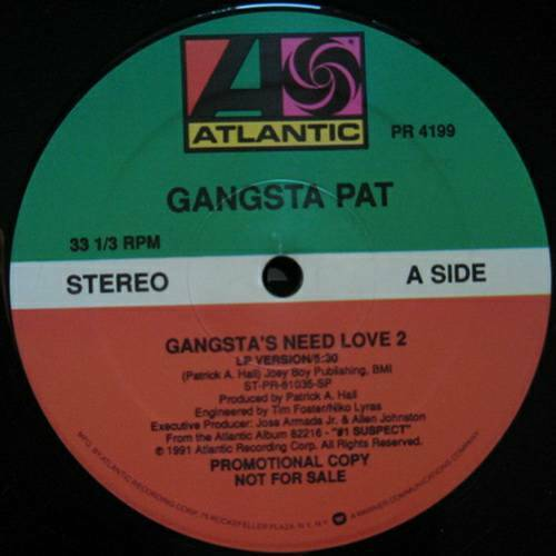 Gangsta Pat - Gangsta`s Need Love 2 (12'' Vinyl Promo) cover