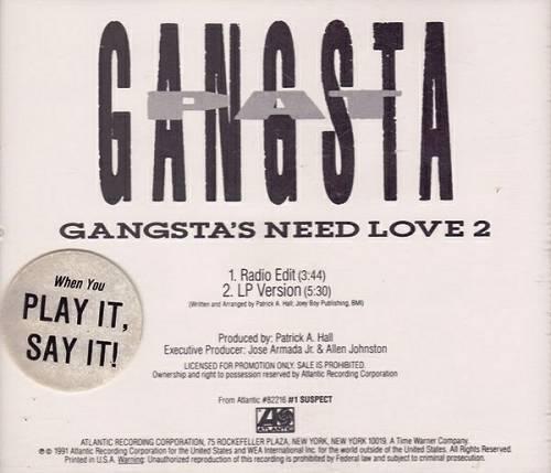 Gangsta Pat - Gangsta`s Need Love 2 (CD Single Promo) cover