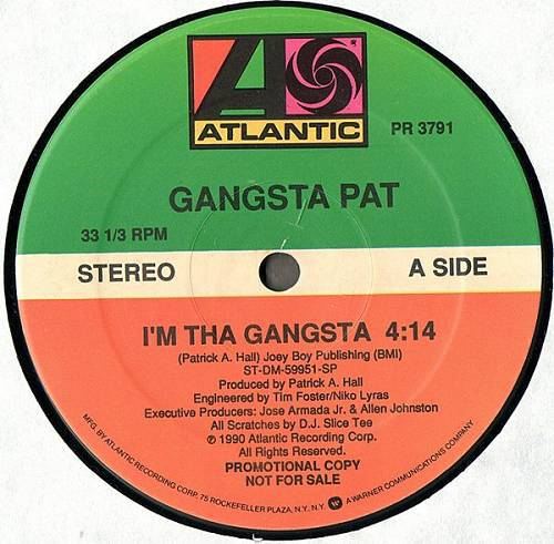 Gangsta Pat - I`m Tha Gangsta # Shootin` On Narcs (12'' Vinyl) cover