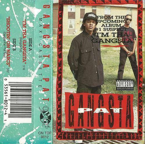 Gangsta Pat - I`m The Gangsta (Maxi Cassette) cover
