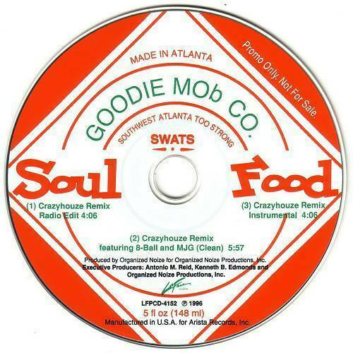Goodie Mob - Soul Food. The Remix Single (CD, Single, Promo) cover