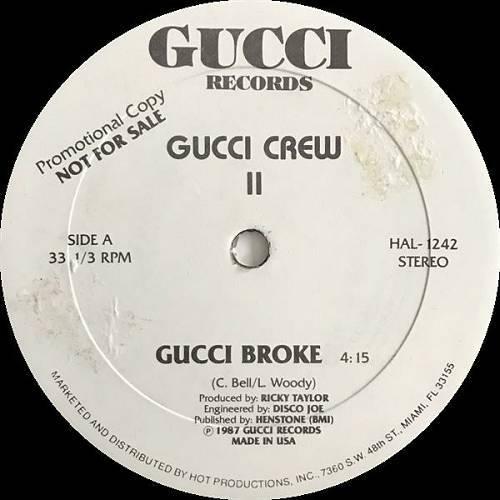 Gucci Crew II - Gucci Broke (12'' Vinyl, 33 1-3 RPM, Promo) cover