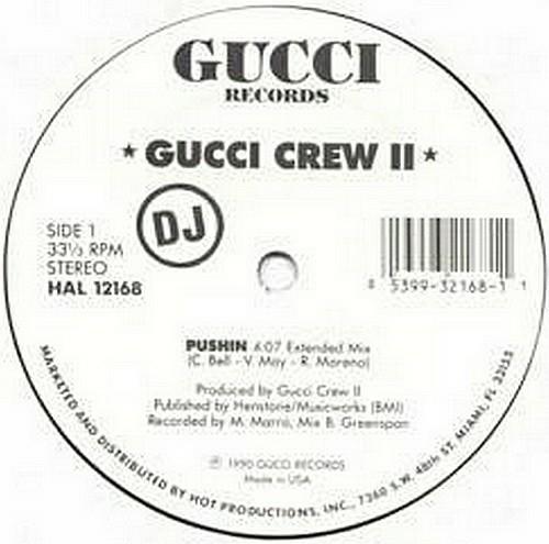 Gucci Crew II - Pushin (12'' Vinyl, 33 1-3 RPM, Promo) cover