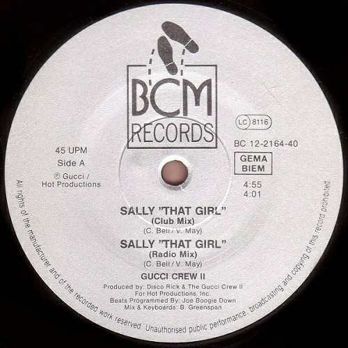 Gucci Crew II - Sally (That Girl) (12'' Vinyl, 45 RPM) cover