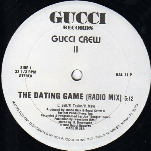 Gucci Crew II - The Dating Game (12'' Vinyl, 33 1-3 RPM) cover