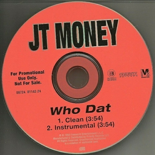 JT Money - Who Dat (CD Single, Promo) cover