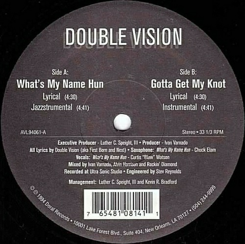 Double Vision - What`s My Name Hun (12'' Vinyl, 33 1-3 RPM) cover