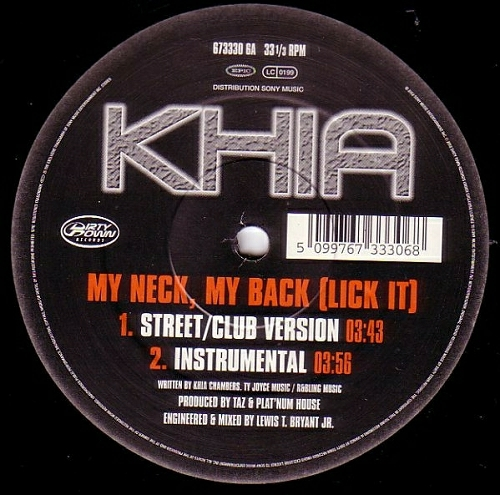 Khia - My Neck, My Back (Like It) (12'' Vinyl) cover