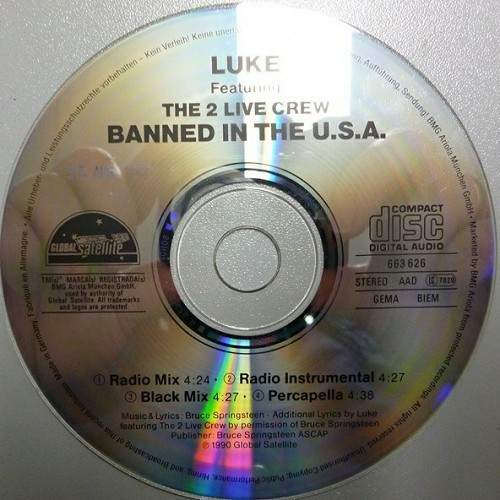 Luke & The 2 Live Crew - Banned In The U.S.A. (CD, Maxi-Single) cover