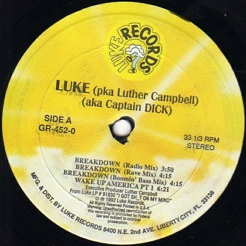 Luke - Breakdown (12'' Vinyl, 33 1-3 RPM) cover