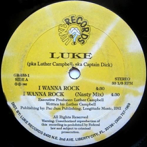 Luke - I Wanna Rock (12'' Vinyl) cover