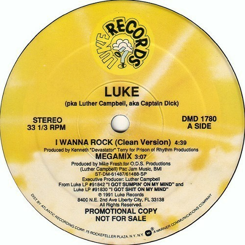 Luke - I Wanna Rock (12'' Vinyl, Single, Promo) cover