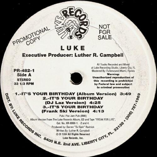 Luke - It`s Your Birthday (12'' Vinyl, 33 1-3 RPM, Promo) cover