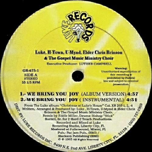 Luke - We Bring You Joy (12'' Vinyl, 33 1-3 RPM) cover