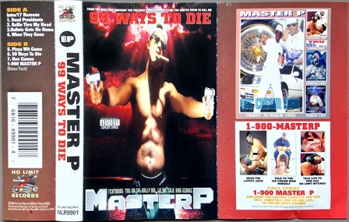 Master P - 99 Ways To Die (Cassette, EP) cover