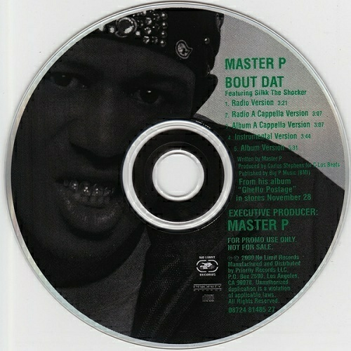 Master P - Bout Dat (CD Single, Promo) cover