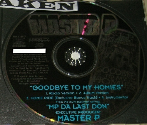 Master P - Goodbye To My Homies (CD Single) cover