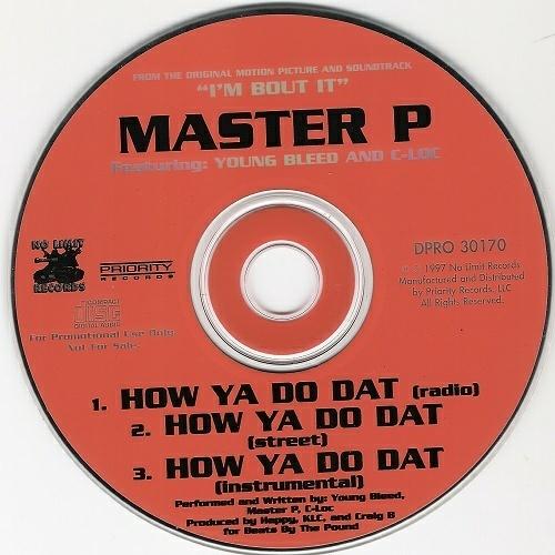 Master P - How Ya Do Dat (CD Single, Promo) cover