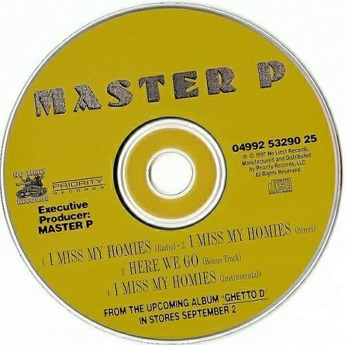 Master P - I Miss My Homies (CD, Maxi-Single) cover