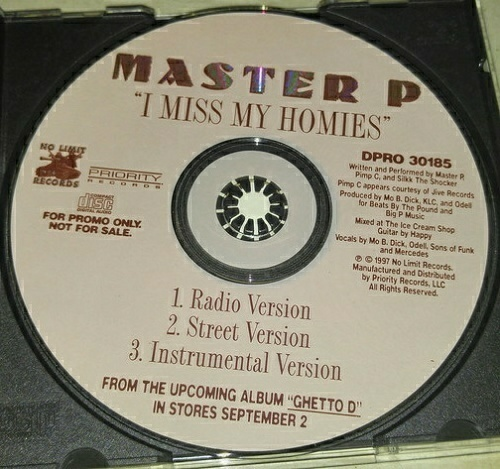 Master P - I Miss My Homies (CD Single, Promo) cover